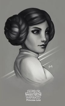Tribute to Carrie Fisher by EdgarSandoval