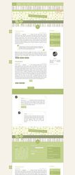 Blogspot template Sweet green by stupid-owl