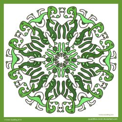 Thursday Thrill Mandala I by Quaddles-Roost