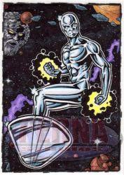 Silver Surfer Sketch Card by tonyperna