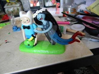 Adventure Time Wedding Cake Topper-Polymer Clay- by ThePetiteShop