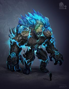 Earth-ice Golem by bocho
