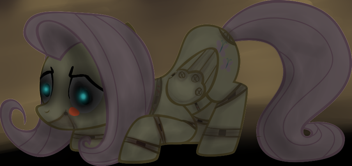 Five Nights at Freddy MLP Fluttershy is Toy Bonnie by SunDay57
