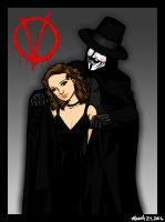 Voila -- V for Vendetta by bechedor79