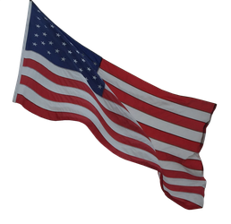 American Flag Clear-Cut by WDWParksGal-Stock