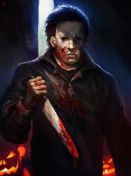 Michael Myers commision by Blackhood-art
