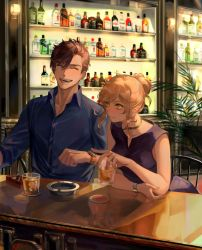 Commission: Chilling at the bar by Taro-K