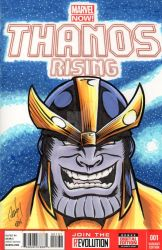 Thanos Rising Blank Sketch cover by rodneyfyke