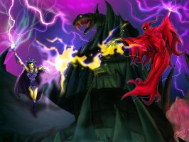 Evil-Lyn Vs Shadow Weaver by JazylH
