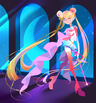 Sailor moon by cyanirisnocturne