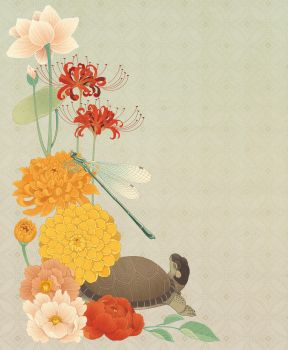 Illustrated ikebana by blackBanshee80