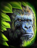 Gorilla Portrait by WillemXSM