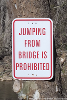 NCR - JUMPING FROM BRIDGE IS PROHIBITED by NickACJones