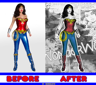wonder woman - normal photo in photo DC comic by xthebrunorgasticx