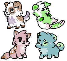 (5 POINT EACH) Puppy Adoptables (CLOSED!!) by YissyCake