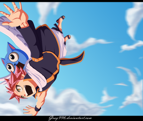 Let's Go Happy - Fairy Tail 374 by Gray996