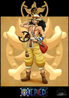 One Piece cards : Usopp by Lily-Fu