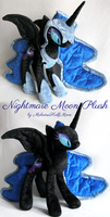 Nightmare Moon Plush by MalwinaHalfMoon