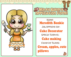 Bakery Application Form - Cake Decorator by alittleofsomething