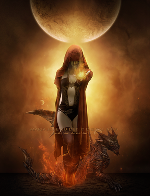 Flame of the dragon by CrisestepArt