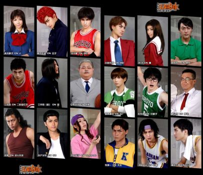 Real Slam Dunk Characters by KrisLiao