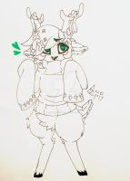 lil Cutie, Deer humanoid by xXPans-LinkXx