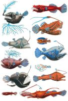 Anglerfish Group by NocturnalSea