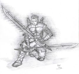 Double Sword Knight by Buabeh