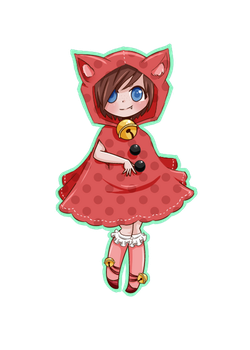 Rainbow Kitty Adoptable 01 (Red) OPEN by AngelMochaAdopts