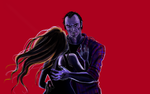 Trevor/Violet (Red Background) by ChloexBowie