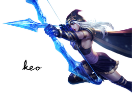 League of Legends - Ashe Render by Aliasear