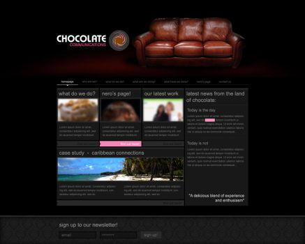 Chocolate Website Proposal by willdesign
