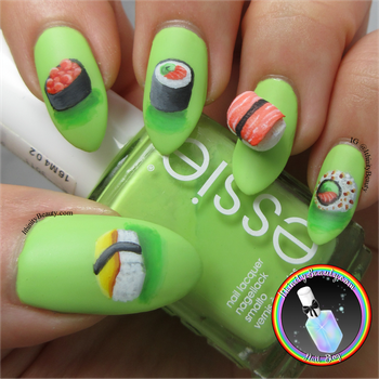 Sushi Nail Art by Ithfifi