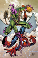 Spidey vs Green Goblin by AlonsoEspinoza