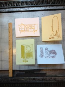 The Domestic Menagerie Letterpress Cards by mlauritano