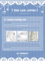 Blue Lace Journal CSS by SimplySilent