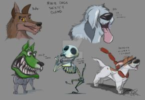 Movie Dogs sketch dump by Mad--Munchkin