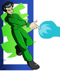 Yusuke spirit gun by fighterxaos
