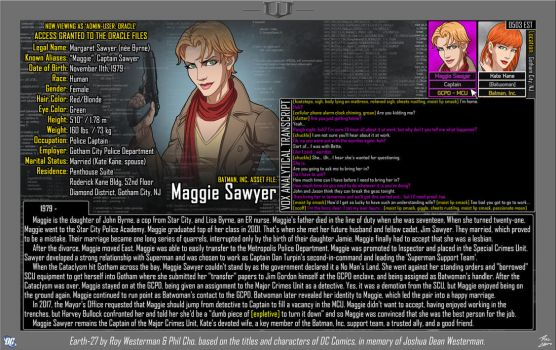 [Earth-27: Oracle Files] Maggie Sawyer by Roysovitch