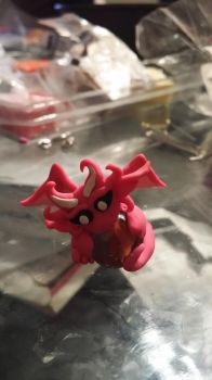 Baby Clay Dragon by awcomicart