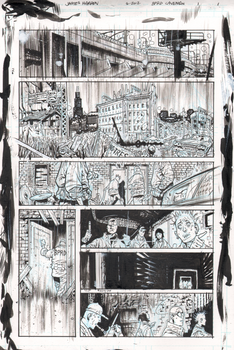 BPRD Abyss of Time page 1 raw by JHarren