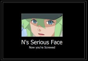 N Serious Face Meme by 42Dannybob