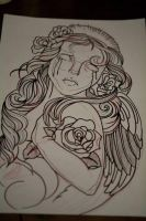 lady rose by evilmoon-tattoo