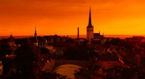 tallinn old town by dzorma