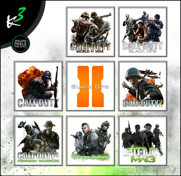 The Call of Duty Series Icon-Pack (2003-2011) by karim3adel