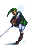 Link Ocarina of Time by Tree-ink