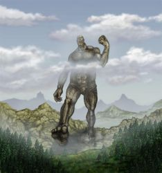 Earth colossus by Deathlyray