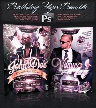 Birthday Flyer Bundle Vol.5 by squizmo