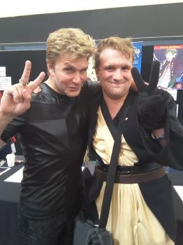 Me with Vic mignogna by Bleachfan3423