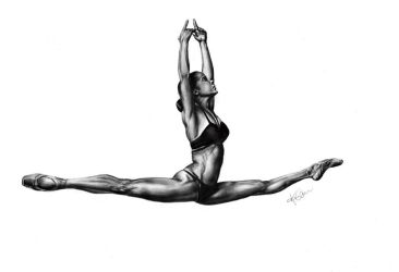 Misty Copeland - figure drawing by AnythingButDown